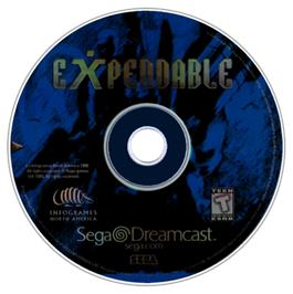 Artwork on the CD for Millennium Soldier: Expendable on the Sega Dreamcast.