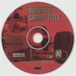 Artwork on the CD for Monaco Grand Prix on the Sega Dreamcast.