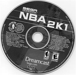 Artwork on the CD for NBA 2K1 on the Sega Dreamcast.