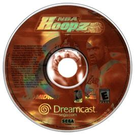 Artwork on the CD for NBA Hoopz on the Sega Dreamcast.