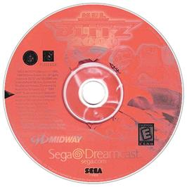 Artwork on the CD for NFL Blitz 2001 on the Sega Dreamcast.