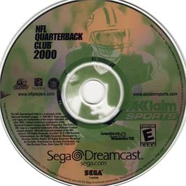 Artwork on the CD for NFL Quarterback Club 2000 on the Sega Dreamcast.