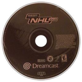 Artwork on the CD for NHL 2K2 on the Sega Dreamcast.