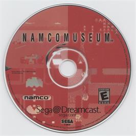 Artwork on the CD for Namco Museum on the Sega Dreamcast.