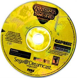 Artwork on the CD for Plasma Sword: Nightmare of Bilstein on the Sega Dreamcast.