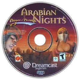 Artwork on the CD for Prince of Persia: Arabian Nights on the Sega Dreamcast.