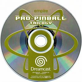 Artwork on the CD for Pro Pinball: Trilogy on the Sega Dreamcast.