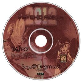 Artwork on the CD for Psychic Force 2012 on the Sega Dreamcast.