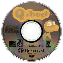 Artwork on the CD for Q*bert on the Sega Dreamcast.