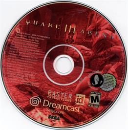Artwork on the CD for Quake III: Arena on the Sega Dreamcast.