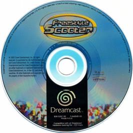 Artwork on the CD for Razor Freestyle Scooter on the Sega Dreamcast.