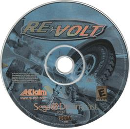 Artwork on the CD for Re-Volt on the Sega Dreamcast.
