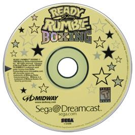 Artwork on the CD for Ready 2 Rumble Boxing on the Sega Dreamcast.
