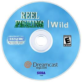 Artwork on the CD for Reel Fishing: Wild on the Sega Dreamcast.
