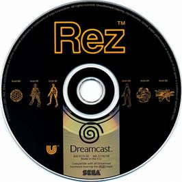 Artwork on the CD for Rez on the Sega Dreamcast.