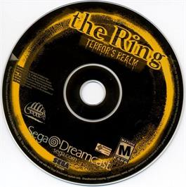 Artwork on the CD for Ring: Terror's Realm on the Sega Dreamcast.