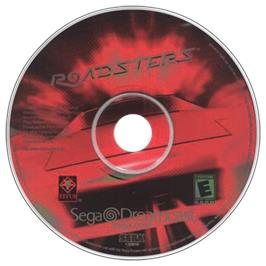 Artwork on the CD for Roadsters on the Sega Dreamcast.