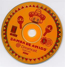 Artwork on the CD for Samba De Amigo on the Sega Dreamcast.