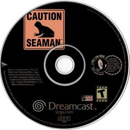 Artwork on the CD for Seaman on the Sega Dreamcast.
