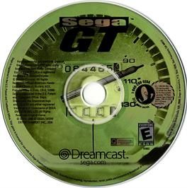 Artwork on the CD for Sega GT: Homologation Special on the Sega Dreamcast.