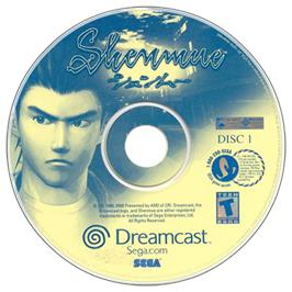 Artwork on the CD for Shenmue on the Sega Dreamcast.