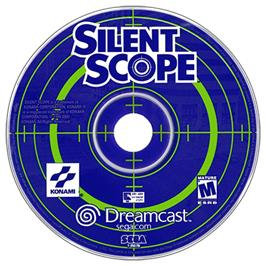 Artwork on the CD for Silent Scope on the Sega Dreamcast.