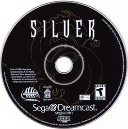 Artwork on the CD for Silver on the Sega Dreamcast.