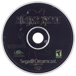 Artwork on the CD for Slave Zero on the Sega Dreamcast.