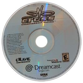 Artwork on the CD for Sno-Cross Championship Racing on the Sega Dreamcast.