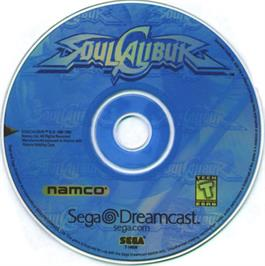Artwork on the CD for Soul Calibur on the Sega Dreamcast.