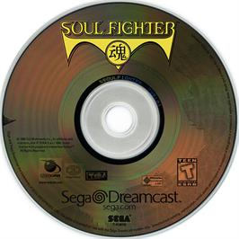 Artwork on the CD for Soul Fighter on the Sega Dreamcast.