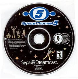 Artwork on the CD for Space Channel 5: Part 2 on the Sega Dreamcast.