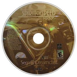 Artwork on the CD for Spirit of Speed 1937 on the Sega Dreamcast.