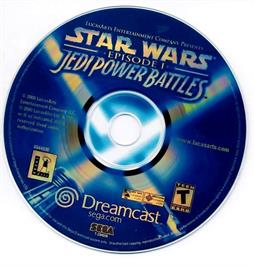 Artwork on the CD for Star Wars: Episode I - Jedi Power Battles on the Sega Dreamcast.