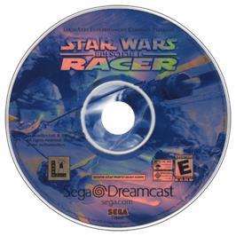 Artwork on the CD for Star Wars: Episode I - Racer on the Sega Dreamcast.