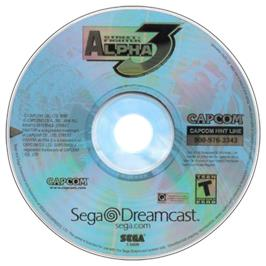 Artwork on the CD for Street Fighter Alpha 3 on the Sega Dreamcast.