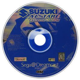 Artwork on the CD for Suzuki ALSTARE Extreme Racing on the Sega Dreamcast.