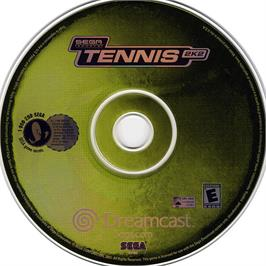 Artwork on the CD for Tennis 2K2 on the Sega Dreamcast.