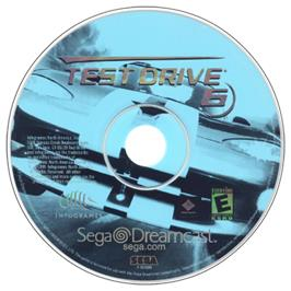 Artwork on the CD for Test Drive 6 on the Sega Dreamcast.