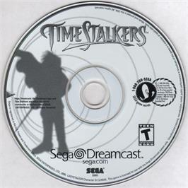 Artwork on the CD for Time Stalkers on the Sega Dreamcast.