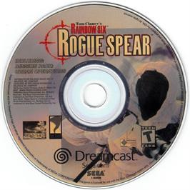 Artwork on the CD for Tom Clancy's Rainbow Six: Rogue Spear on the Sega Dreamcast.