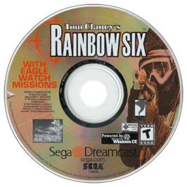 Artwork on the CD for Tom Clancy's Rainbow Six on the Sega Dreamcast.