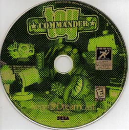 Artwork on the CD for Toy Commander on the Sega Dreamcast.