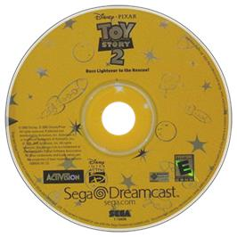 Artwork on the CD for Toy Story 2: Buzz Lightyear to the Rescue on the Sega Dreamcast.