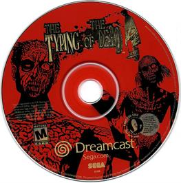 Artwork on the CD for Typing of the Dead, The on the Sega Dreamcast.