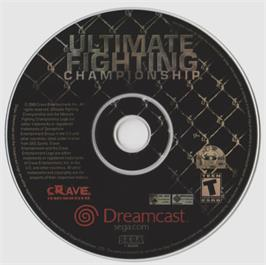 Artwork on the CD for Ultimate Fighting Championship on the Sega Dreamcast.