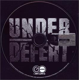 Artwork on the CD for Under Defeat on the Sega Dreamcast.