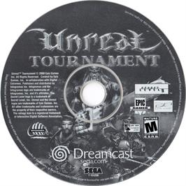 Artwork on the CD for Unreal Tournament on the Sega Dreamcast.