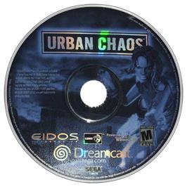 Artwork on the CD for Urban Chaos on the Sega Dreamcast.