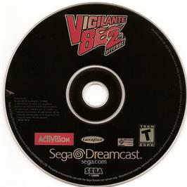 Artwork on the CD for Vigilante 8: 2nd Offense on the Sega Dreamcast.